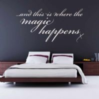 And this is where the Magic Happens ~ Wall sticker / decals